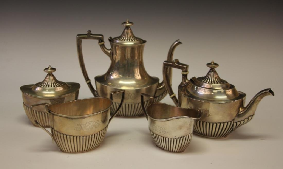 J.D. CALDWELL STERLING SILVER (5) PC. TEA SERVICE