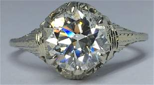 LADYS VINTAGE 171CT DIAMOND 18KT WHITE GOLD RING