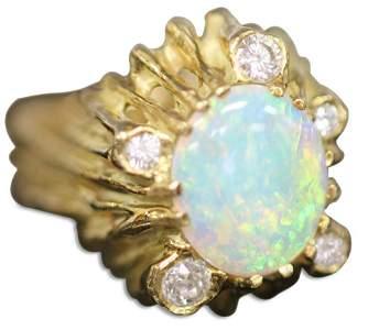 JEAN PIERRE, 18KT OPAL & DIAMOND LADY'S RING