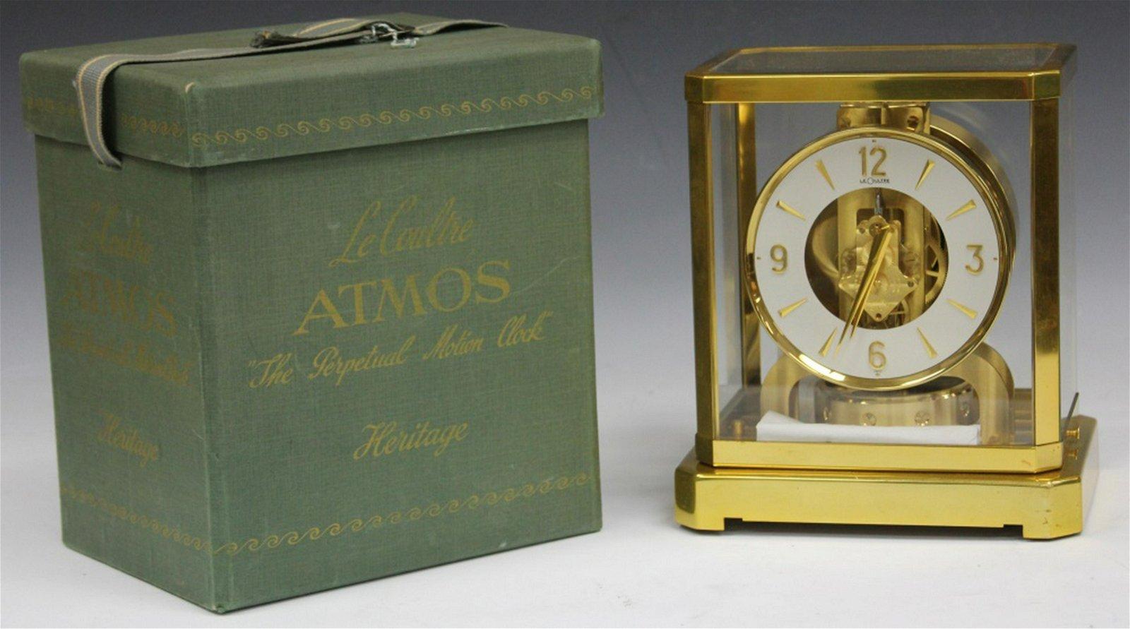 LE COULTRE ATMOS CLOCK W/ ORIGINAL CASE