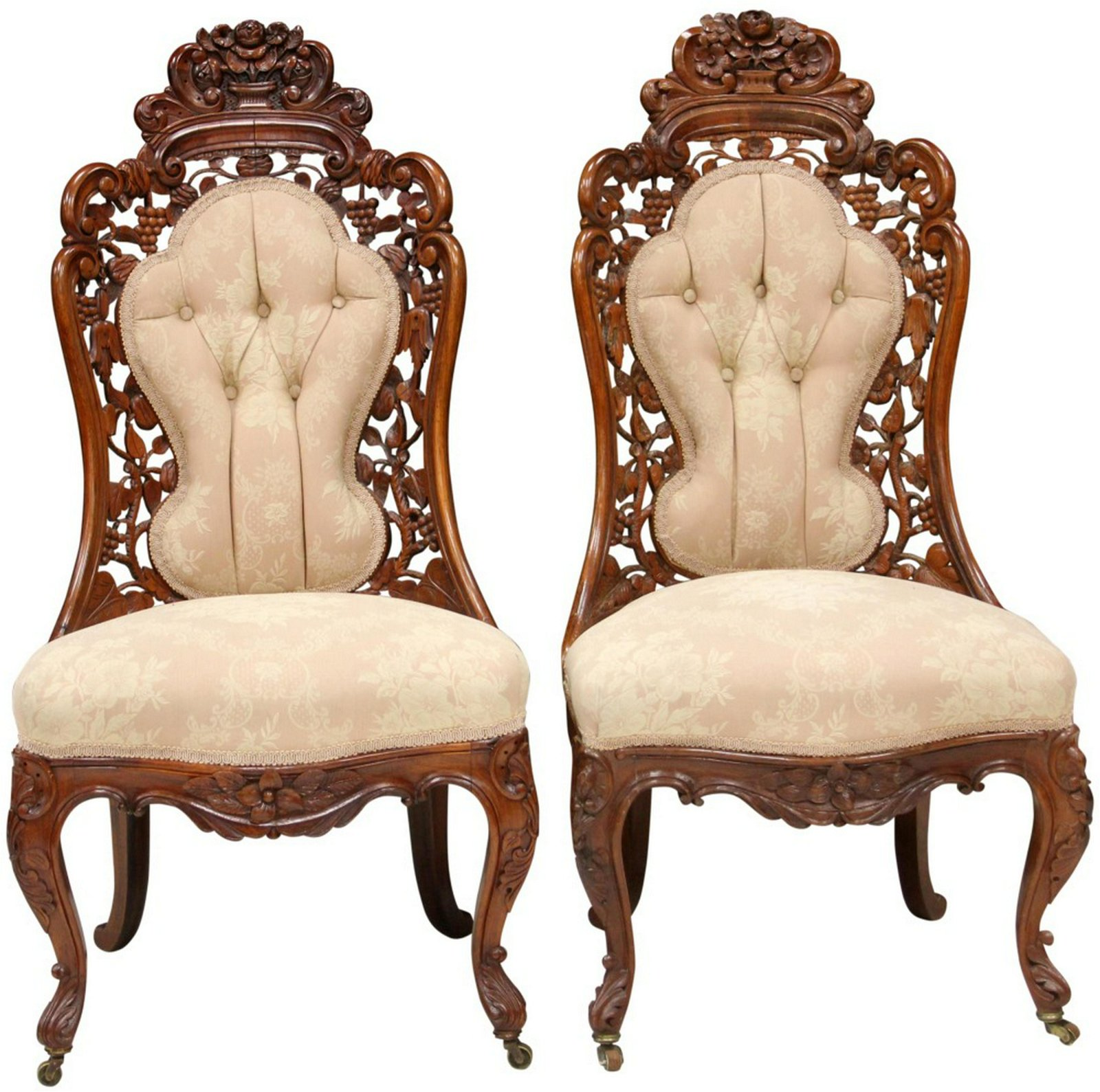 PAIR OF BELTER ROSEWOOD PARLOR CHAIRS
