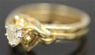 LADYS DIAMOND SOLITAIRE 14KT YELLOW GOLD RING