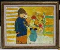 WILLERING EPKO (B. 1928), OIL ON CANVAS OF FLOWERS