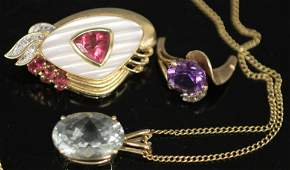 LOT OF (5) 14KT GOLD JEWELRY PIECES
