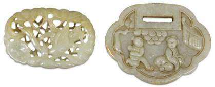 LOT OF (2) CHINESE CARVED JADE PIECES