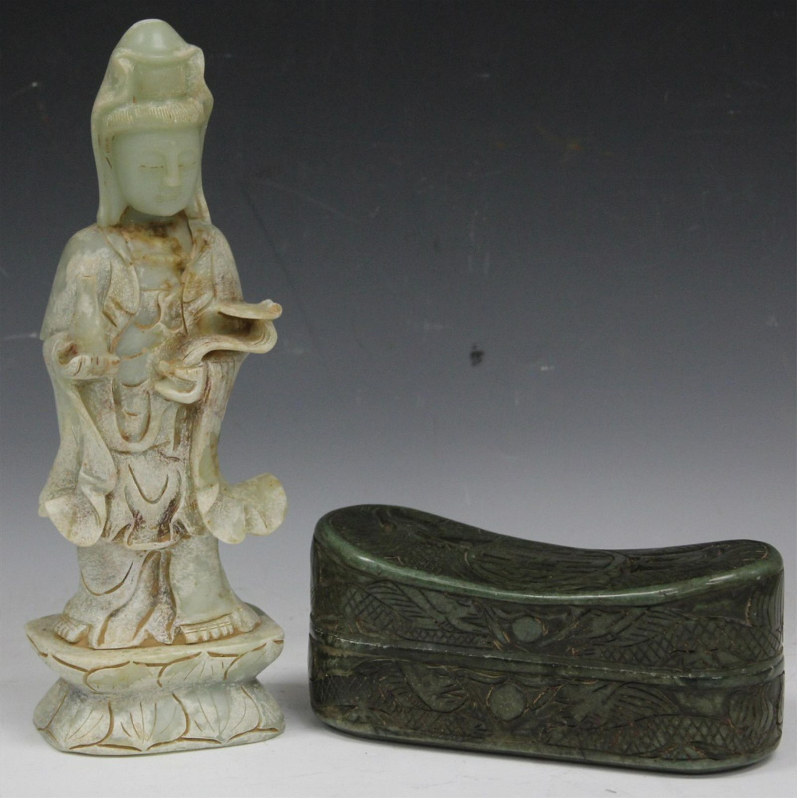 LOT OF (2) CHINESE HARDSTONE CARVINGS
