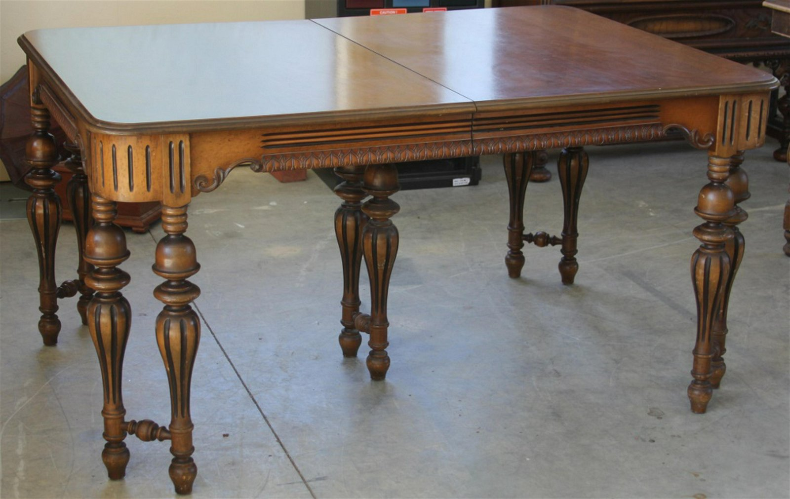 AMERICAN CARVED DINING ROOM SET, 1930