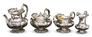 EARLY 19TH C. LONDON STERLING TEA SERVICE SET