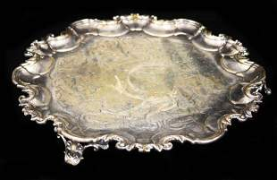 STERLING SILVER CHATEAU ENGLISH FOOTED TRAY