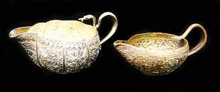 LOT OF (2) MOSAIC ENGRAVED POURING VESSELS
