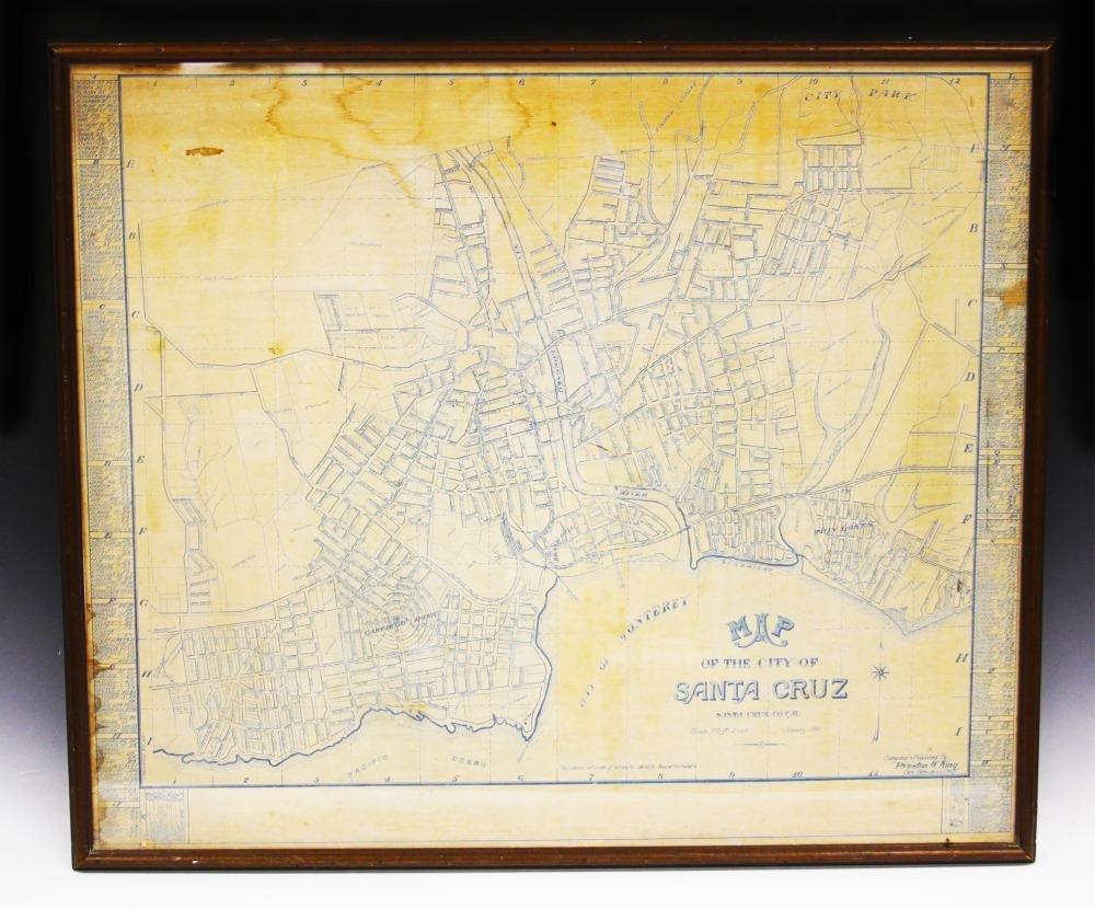 EARLY MAP SANTA CRUZ, 1911