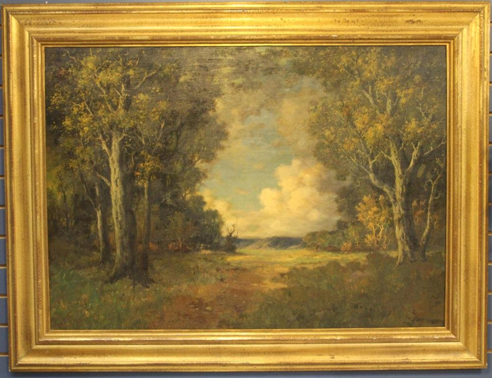 LATE 19TH C. OIL ON CANVAS LANDSCAPE