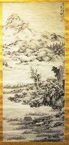 IN THE MANNER OF WU ZHEN, PAINTING OF LANDSCAPE