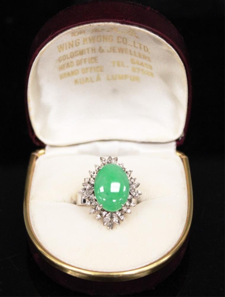 BURMESE JADE DIAMOND 18KT RING