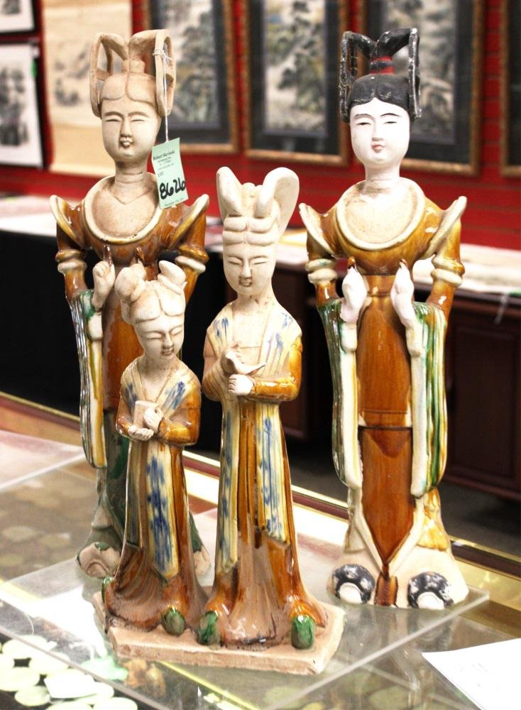LOT OF (3) CHINESE TANG STYLE FIGURES