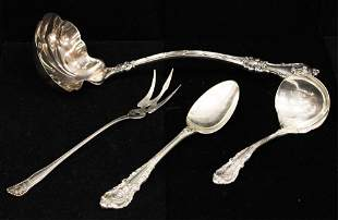 LOT OF 4 STERLING SILVER SERVING PCS