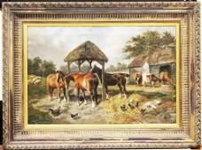 JOHN FREDERICK HERRING, SR., OIL ON CANVAS