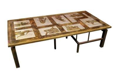 PHILIP and KELVIN LAVERNE MID-CENTURY TABLE