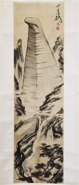 GAO JIANFU CHINESE MOUNTAIN PAINTING