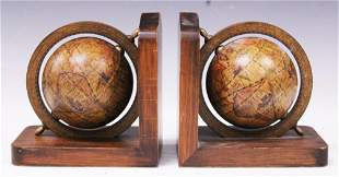 PAIR OF VINTAGE ITALIAN GLOBE BOOKENDS