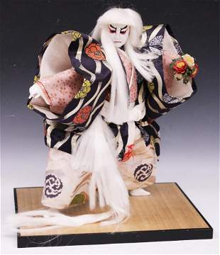 JAPANESE NOH COSTUMED DOLL WITH STAND