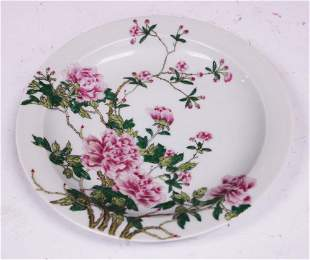 CHINESE ENAMELED PAINTED PLATE