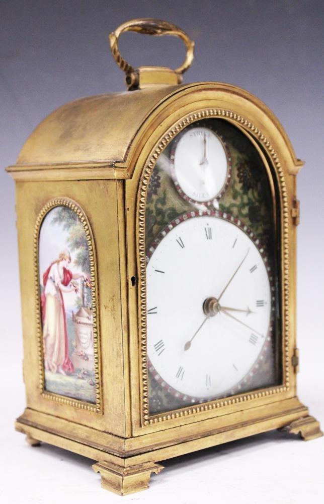 FREDERICK MILLER, (LONDON) 18TH C. ENAMELED CLOCK
