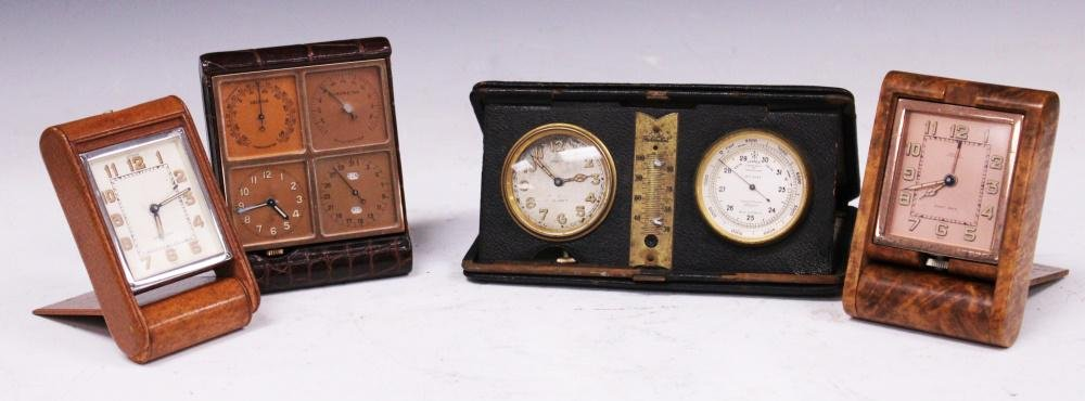 LOT OF (4) VINTAGE TRAVEL CLOCKS