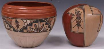 NATIVE AMERICAN POTTERY, ARTIST SIGNED