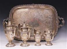 STERLING SILVER WALLACE ROSEPOINT (4) PC. SET