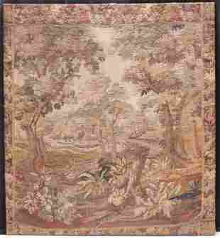 FLEMISH WOVEN WALL TAPESTRY, 19TH C. OR EARLIER