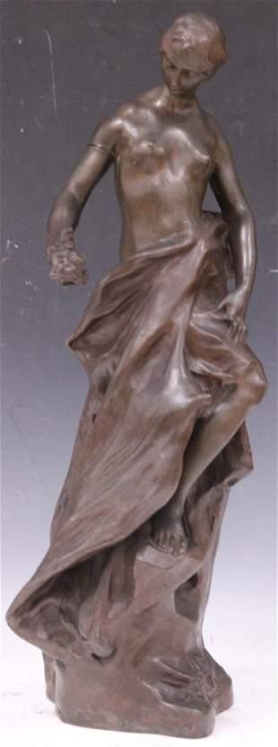 PIERRE DEVAUX (FRENCH 1865-1938) BRONZE SCULPTURE