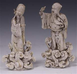 CHINESE BLANC DE CHEIN STATUES, LOT OF (2)