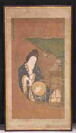 TANG YIN (1473-1523), CHINESE LADY HOLDING FAN