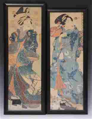 JAPANESE WOODBLOCK PRINTS, LOT OF (2)