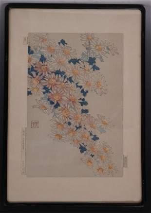 SHODO KAWARAZAKI JAPANESE WOODBLOCK PRINT