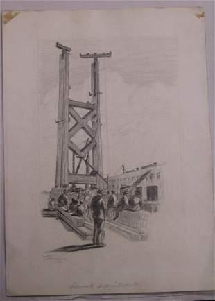 EDGAR WAITE HARGRAVES (1888-1959), (6) DRAWINGS