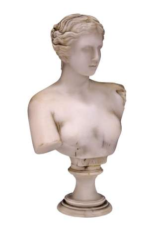 CLASSICAL STYLE MARBLE BUST