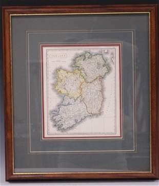 MAP OF IRELAND, AARON ARROWSMITH (HANDCOLORED)