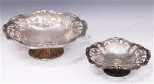 STERLING SILVER MATCHING COMPOTES, LOT OF (2)