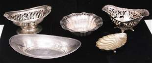 STERLING SILVER TRAYS, COMPOTES, ONE TIFFANY & CO.
