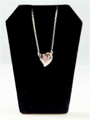 LADYS PLATINUM DIAMOND PENDANT W/ CHAIN