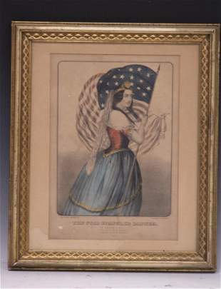 """CURRIER & IVES, """"THE STAR SPANGLED BANNER"""""""