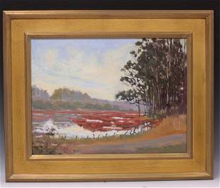 AMERICAN 20TH C.  OIL ON CANVAS, ARTIST SIGNED