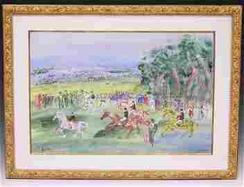 JEAN DUFY (1888-1964), WATERCOLOR-GOUACHE