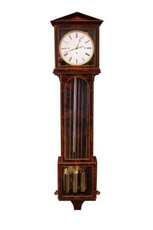 VIENNA 19TH C. MAHOGANY INLAID DACHLUHR CLOCK