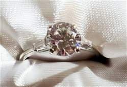 LADYS DIAMOND 2.02 CTS. ROUND SOLITAIRE 14KT RING