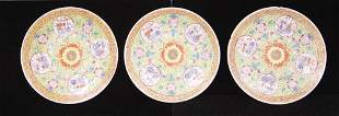 CHINESE QING DYNASTY PAINTED PLATES (3)
