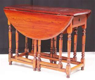 CHINESE DROP LEAF DINING TABLE