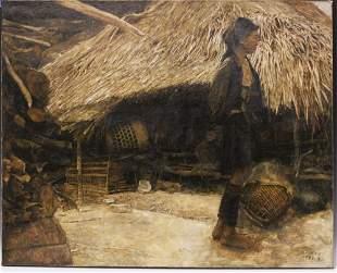 CHUNSHENG XIANG (B. 1960) , OIL ON CANVAS